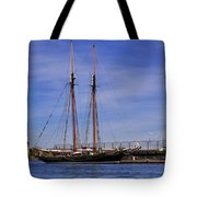 The Tall Ship Pacific Grace Based In Victoria Canada Tote Bag by Louise Heusinkveld