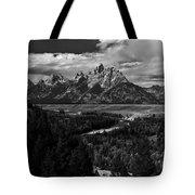 The Tetons - Il Bw Tote Bag