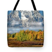 The Tetons In Autumn Tote Bag