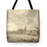 The Thames Looking Towards Westminster From Near York Water Gate  Tote Bag