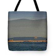 The Thin Orange Line Tote Bag