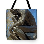 The Thinker By Rodin Tote Bag