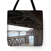 The Three Benicia-martinez Bridges In California - 5d18844 Tote Bag