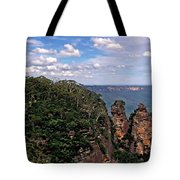 The Three Sisters - The Blue Mountains Tote Bag