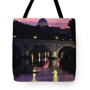 The Tiber River And The Dome Of St Tote Bag