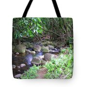 The Trail By The Creek Tote Bag