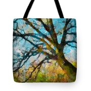 The Tree Of Many Colours  Tote Bag