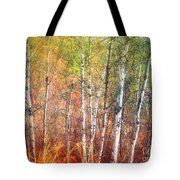 The Trees And The Colour Tote Bag