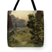 The Trees Are Kissed By Sunlight Tote Bag