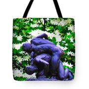 The Two Wrestlers Tote Bag