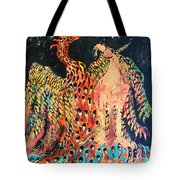 The Unicorn And Phoenix Rise From The Earth Tote Bag
