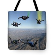 The U.s. Navy Parachute Demonstration Tote Bag