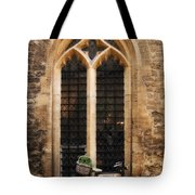 The Vaults Garden Cafe Bicycle In Oxford England Tote Bag
