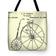 The Velocipede Patent 1880 Tote Bag