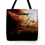 The View From A Busy Planetary System Tote Bag
