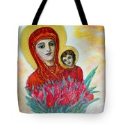 The Virgin And The Child Tote Bag