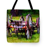 The Wagon At El Prado Tote Bag