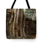 The Wall At Ta Prohm Tote Bag