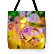 The Warmth Of Autumn Glow Abstract Tote Bag