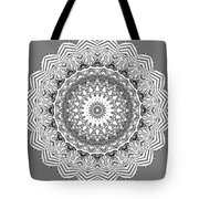 The White Mandala No. 2 Tote Bag