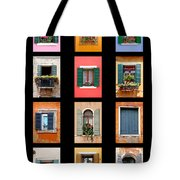 The Windows Of Venice Tote Bag