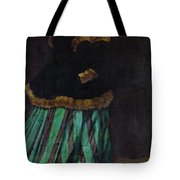 The Woman In The Green Dress Tote Bag