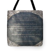 The World Peace Flame Tote Bag