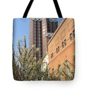 Theater District And City Flowers Tote Bag