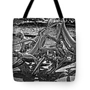 Then The Trouble Started Monochrome Tote Bag
