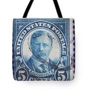 Theodore Roosevelt Postage Stamp Tote Bag