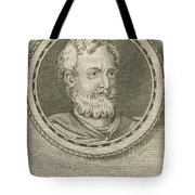 Theophrastus, Ancient Greek Polymath Tote Bag by Science Source