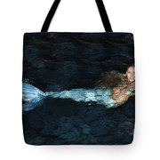 There Is A Mermaid In The Pool Tote Bag
