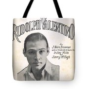 There's A New Star In Heaven Tonight Rudolph Valentino Tote Bag
