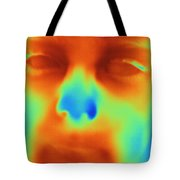 Thermogram Of A Boys Face Tote Bag