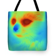 Thermogram Of A Cat Tote Bag