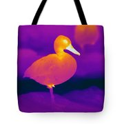 Thermogram Of A Cinnamon Teal Duck Tote Bag