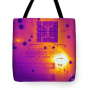 Thermogram Of A Computer Board Tote Bag