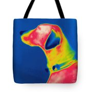 Thermogram Of A Dog Tote Bag