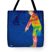 Thermogram Of A Golfer Tote Bag