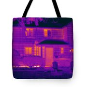 Thermogram Of A Home In Winter Tote Bag