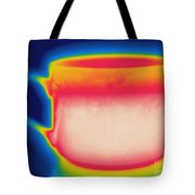 Thermogram Of A Hot Coffee Cup Tote Bag