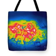 Thermogram Of A Hot Plate Of Spaghetti Tote Bag