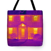 Thermogram Of A House In Winter Tote Bag