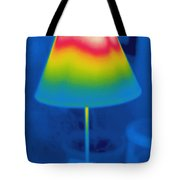 Thermogram Of A Lamp Tote Bag