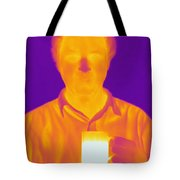Thermogram Of A Man Tote Bag