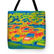 Thermogram Of A Parking Lot Tote Bag