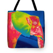 Thermogram Of An Elephant Tote Bag
