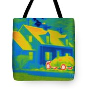 Thermogram Of Car In Front Of A House Tote Bag