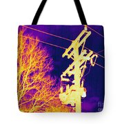 Thermogram Of Electrical Wires Tote Bag by Ted Kinsman