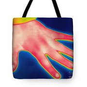 Thermogram Of Hand Tote Bag